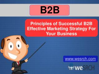 Principles of Successful B2B Effective Marketing Strategy For Your Business