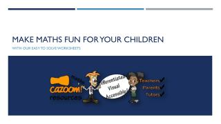 Make Maths Fun for Your Children