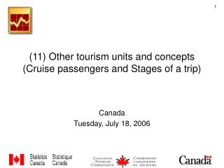 11 Other tourism units and concepts Cruise passengers and Stages of a trip