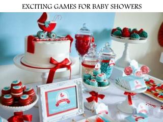 EXCITING GAMES FOR BABY SHOWERS