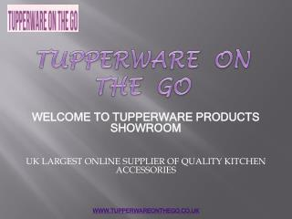 Famous Tupperware Baking Products