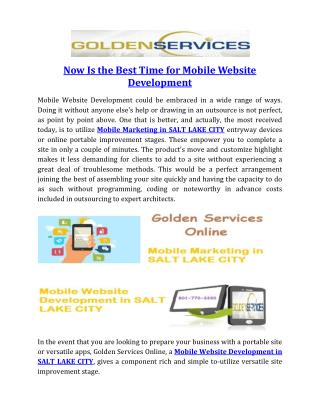 Now Is the Best Time for Mobile Website Development
