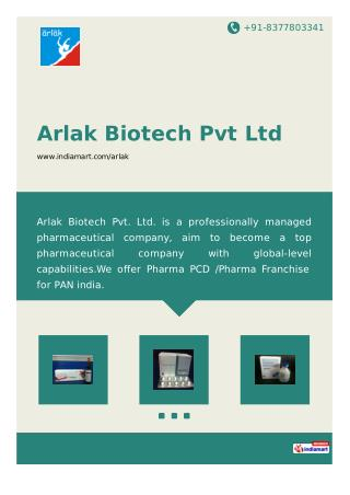Top PCD Pharma Franchise | Arlak Biotech