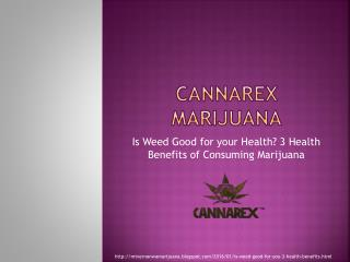 Is Weed Good For You? 3 Health Benefits Of Consuming Marijuana