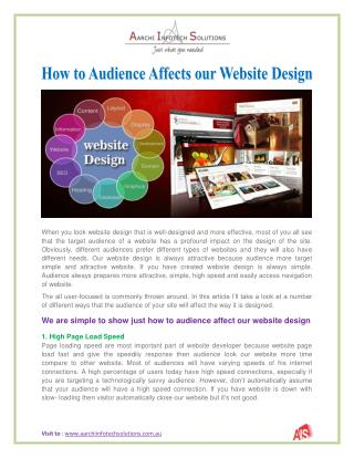 How to Audience Affects our Website Design