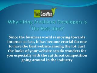 Why Hiring Freelance Developers is The Best Idea?