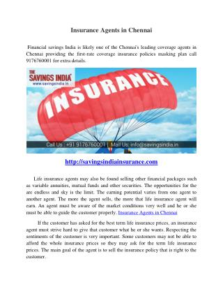 Insurance Agents in Chennai