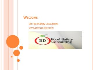 Food Safety Consulting, Training & Certification