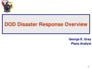 DOD Disaster Response Overview