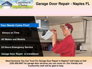 Garage Door Installation in Naples FL