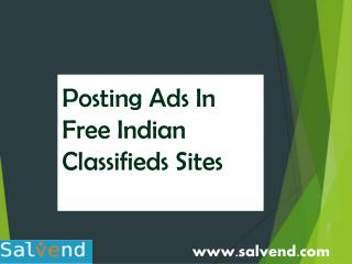 Posting Ads In Free Indian Classifieds Sites