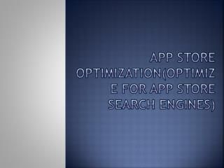 App Optimization Store
