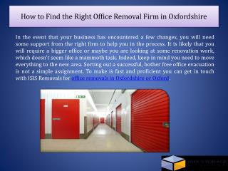 How to Find the Right Office Removal Firm in Oxfordshire