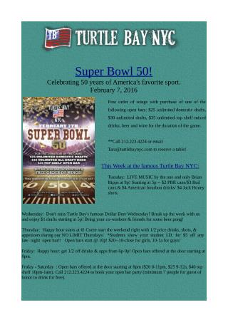 Super Bowl 50, Sports Event in NYC
