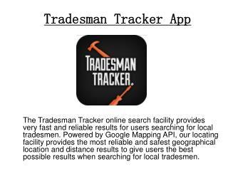 Find a Local Tradesman in U.K.