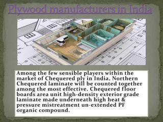 Haryana Industry Manufacturers of Plywood  in India