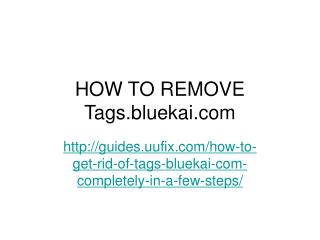 How to remove tags.bluekai.com