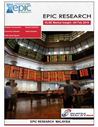 Epic Research Malaysia - Daily KLSE Report for 4th February 2016