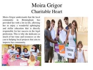 Moira Grigor  Charitable Heart