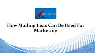 How mailing lists can be used for marketing