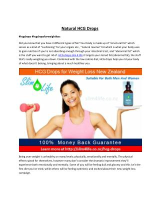 HCG Drops for Weight - Slim4life