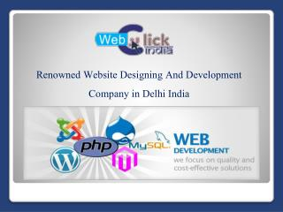 Website Designing And Development Company In Delhi