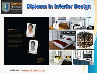 Get Diploma in Interior Designing From RMI Chennai