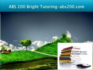 ABS 200 Bright Tutoring/abs200.com
