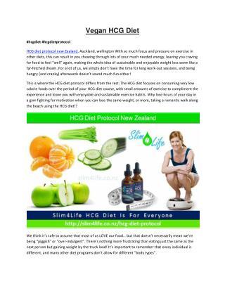 HCG Diet Protocol - Slim4life