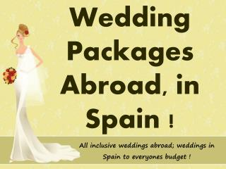 Wedding Packages Abroad