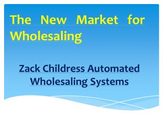 Automated Real Estate Systems Zack Childress