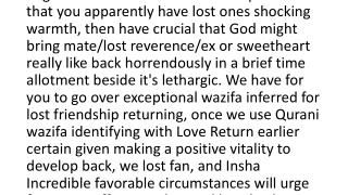 wazifa for lost love back