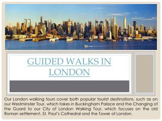Guided Walking Tours London