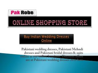 Pakistani wedding dresses Buy wedding dresses online