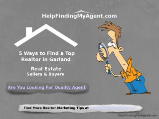 5 Ways to Find a Top Realtor in Garland