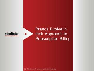 Brands Evolve in their Approach to Subscription Billing
