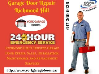 Garage Door Repair Richmond Hill, Maintenance, opener & Installation Services