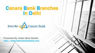 MICR code for Canara Bank Branches In Delhi.