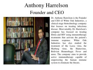 Anthony Harrelson Founder and CEO