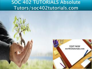 SOC 402 TUTORIALS Absolute Tutors/soc402tutorials.com
