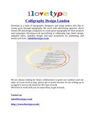 Calligraphy Design London
