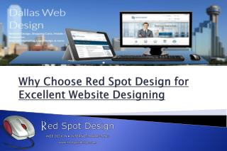 Why Choose Red Spot Design for Excellent Website Designing