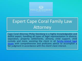 Expert cape coral family law attorney