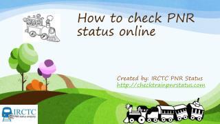 online PNR status checker