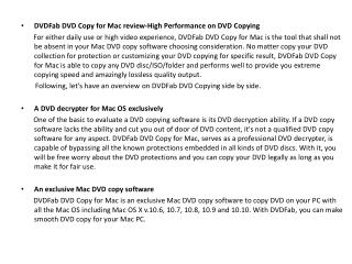 DVDFab DVD Copy for Mac review-High Performance on DVD Copying