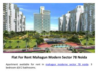Flats for Rent in Noida