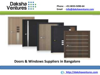 Doors and Windows Suppliers in Bangalore
