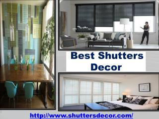 Best Shutters Decor