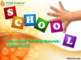 Montessori Teaching Materials KIDADVANCE