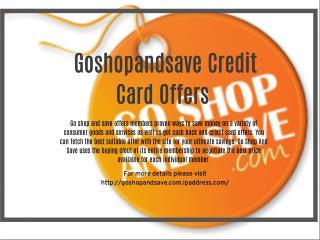 Goshopandsave.com Online Rebates and Discount Program